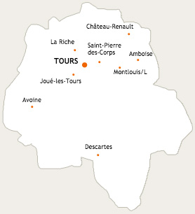 Carte Indre-et-Loire